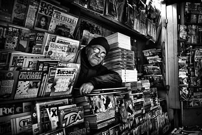 Face Wall Art - Photograph - Sudoku Corner... by Antonio Grambone