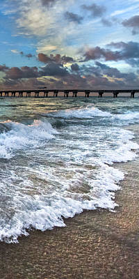 Florida Bridge Photograph - Sudsy Vertical II by Debra and Dave Vanderlaan