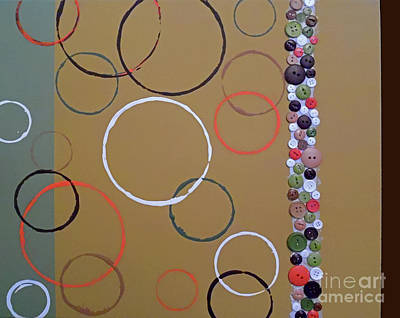 Espresso Painting - Suede Circles by Jilian Cramb - AMothersFineArt
