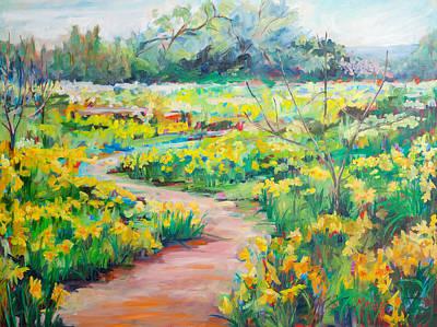 Daffodils Painting - Suenos De Primavera by Marie Massey