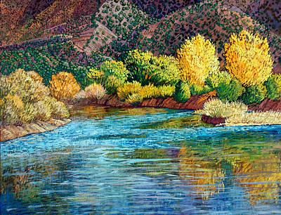 Cottonwood Painting - Suenos Del Rio by Donna Clair