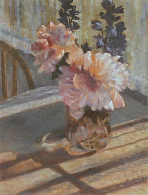 Painting - Sue's Peonies by Rita Bentley