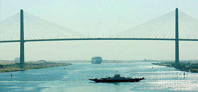 Photograph - Suez Canal Bridge by John Potts