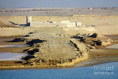 Photograph - Suez Canal Guard Post by John Potts