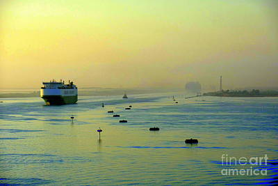 Photograph - Suez Canal Transit by John Potts