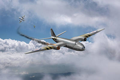 Photograph - Suez Canberra Pr7 Shoot Down by Gary Eason