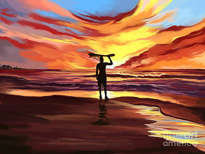 Painting - Suffer At Sunset by Tim Gilliland