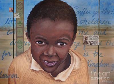 Suffer The Children Art Print by Dee Youmans-Miller