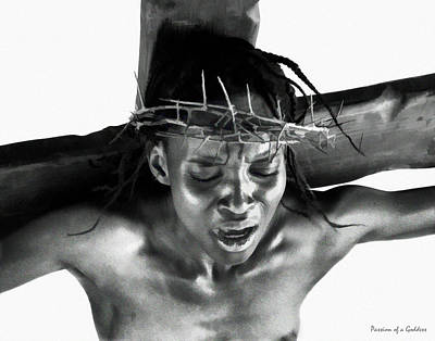 Crown Of Thorns Digital Art - Suffering Of A Woman by Ramon Martinez