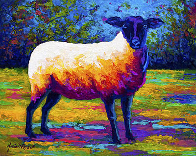 Farm Animal Painting - Suffolk Ewe 2 by Marion Rose