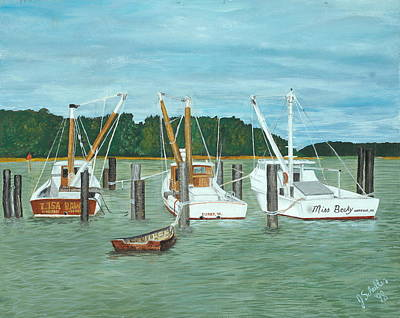 Suffolk Fishing Boats Art Print by John Schuller