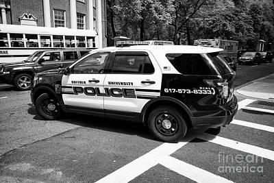 suffolk university campus police patrol vehicle Boston USA Art Print