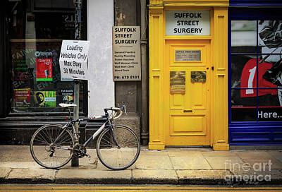 Photograph - Suffolk Street Surgery Bicycle by Craig J Satterlee