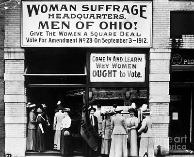 Suffrage Headquarters Art Print by Granger