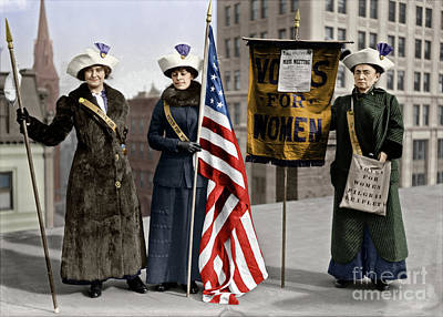Photograph - Suffragettes, C1913.  by Granger