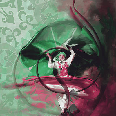 Painting - Sufi Whirl 11 Painting 725 3 by Mawra Tahreem