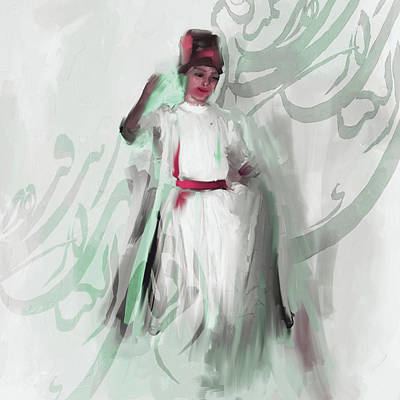Sufi Dancer Painting - Sufi Whirl 8 Painting 722 3 by Mawra Tahreem
