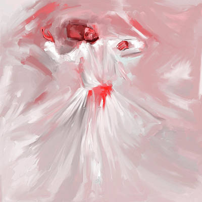 Sufi Dancer Painting - Sufi Whirl 9 Painting 723 2 by Mawra Tahreem