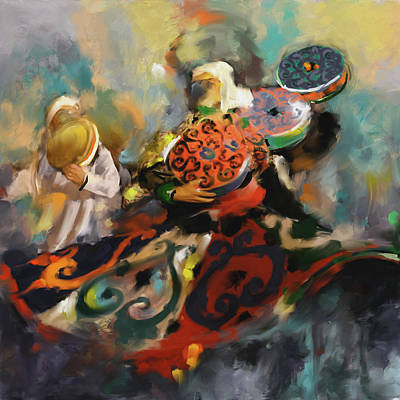 Painting - Sufi Whirling 450 2 by Mawra Tahreem