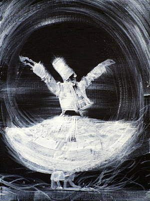 Dervish Painting - Sufi Whirling  - February 21,2013 by Fabrizio Cassetta