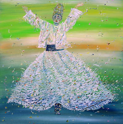 Sufi Whirling  - February 9,2015 Art Print by Fabrizio Cassetta