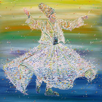 Sufi Whirling  - January 27,2015 Art Print by Fabrizio Cassetta