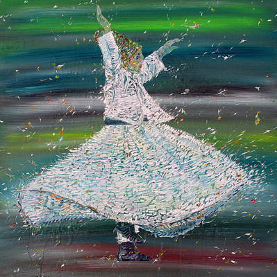 Sufi Whirling  - January 29,2015 Art Print by Fabrizio Cassetta