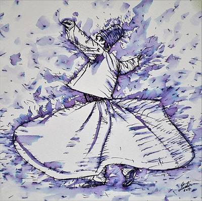 Painting - Sufi Whirling - November 19,2017 by Fabrizio Cassetta