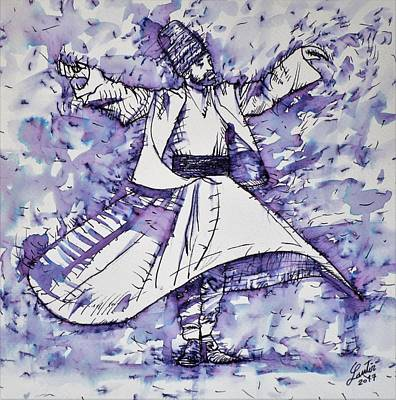 Painting - Sufi Whirling - November 21,2017 by Fabrizio Cassetta