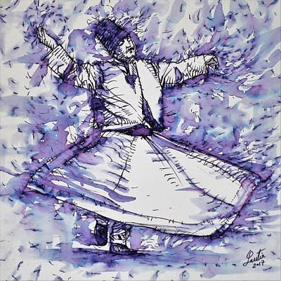 Painting - Sufi Whirling - November 27,2017 by Fabrizio Cassetta