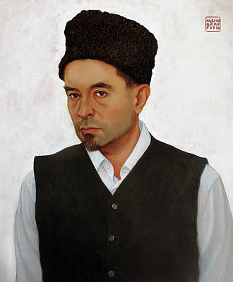 Painting - Sufi With Astrakhan Hat by Mon Graffito