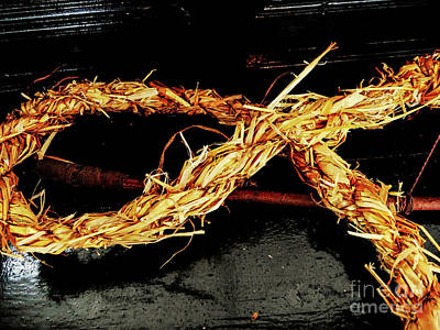 Photograph - Sugan - Rope Of Straw by Lexa Harpell