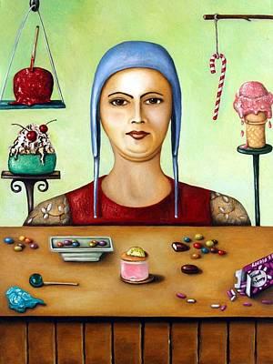 Sundae Painting - Sugar Addict by Leah Saulnier The Painting Maniac