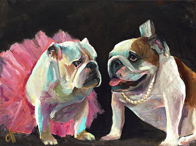 Dog Pop Art Painting - Sugar And Lola by Cari Humphry