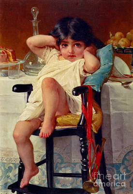 Highchair Photograph - Sugar And Spice 1879 by Padre Art