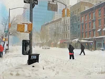Photograph - Sugar And Spice - Snow Is So Nice by Miriam Danar