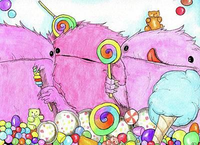 Painting - Sugar Balls by Julie McDoniel