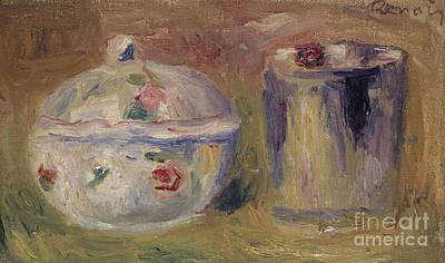 Painting - Sugar Bowl And Beaker by Pierre Auguste Renoir