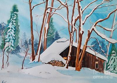 Snow Piles Painting - Sugar Bush  by Lise PICHE