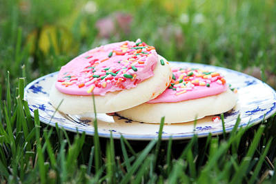 Kitchen Photograph - Sugar Cookies With Sprinkles by Linda Woods