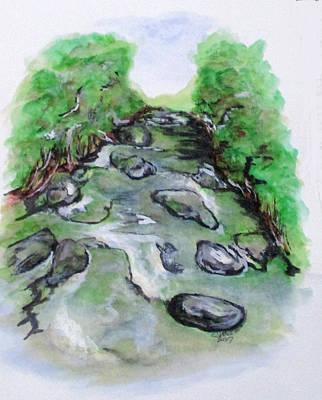 Painting - Sugar Creek, Boyhood Memory by Clyde J Kell
