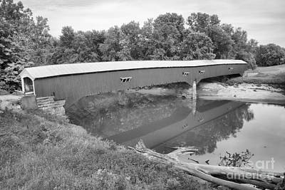 Photograph - Sugar Creek Tranquility Black And White by Adam Jewell