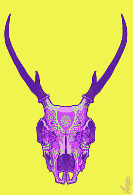 Folk Art Digital Art - Sugar Deer by Nelson Dedos Garcia