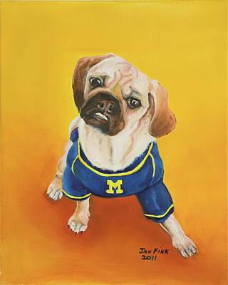 University Of Michigan Painting - Sugar by Jan Fink