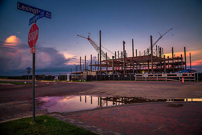 Photograph - Sugar Land Arena Construction 0 by Micah Goff