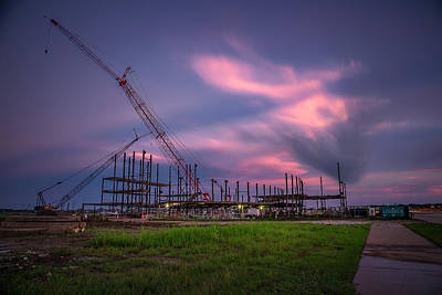 Photograph - Sugar Land Arena Construction 1 by Micah Goff