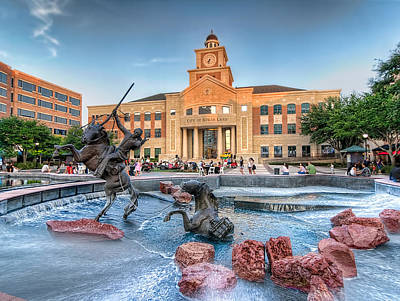 Photograph - Sugar Land Town Center by Tim Stanley
