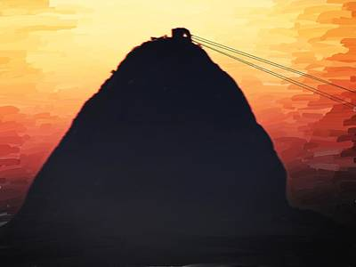 Digital Art - Sugar Loaf Sunset by Alex Moura