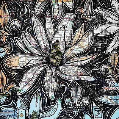 Magnolia Flower Drawing - Sugar Magnolia by John Parish