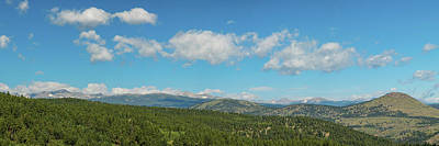 Photograph - Sugar Magnolia Summer Rocky Mountain Peaks Panorama View by James BO Insogna